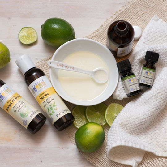 Bath and Body Oil with Black Pepper and Lime Essential Oils