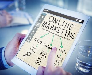 Dropshipping Business Opportunities Online Marketing Plan on a Tablet