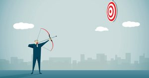 Man Shooting Arrow at Target. Branding Tips for Businesses