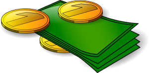 A clip art for banknotes and money