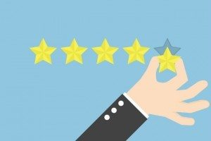 customer satisfaction---five stars showing reliability