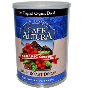 Cafe Altura Organic Coffee Dark Roast Decaf