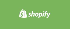 Shopify Logo, Green Background.