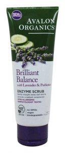 Avalon Organics Brilliant Balance with Lavender and Probiotics enzyme scrub