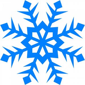 A blue snowflake