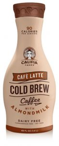 Califia Farms Iced Coffee Cafe Latte with almond milk.