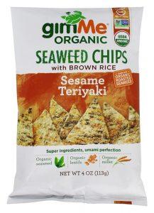 Gimme Chips: Organic Seaweed Chips with Sesame Teriyaki