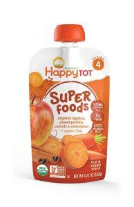 Happy Tot Organic Superfoods Sweet Potato, Apple Carrot Cinnamon