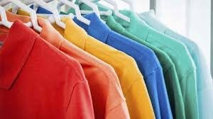 Different colored clothing
