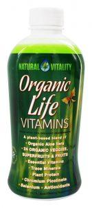 Natural Vitality Organic Life Vitamins Liquid Supplement