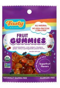Tasty Brand Organic Fruit Gummies (Superfruit Flavors)