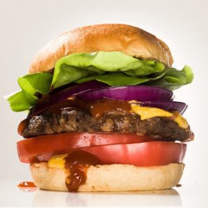 Beyond Meat Beast Burger. This tasty, juicy burger doesn't contain any beef! It's a vegan beef alternative.