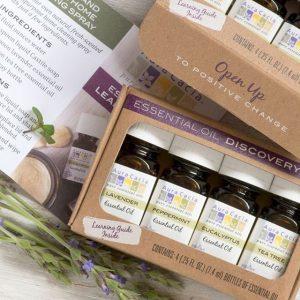 Four different essential oils Aura Cacia