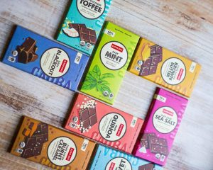 Alter Eco Foods Chocolate bars arranged in squares