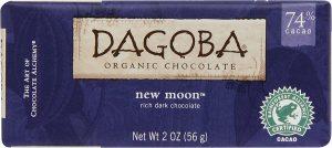 Dagoba New Moon organic dark chocolate