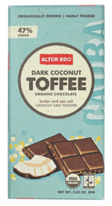 Alter Eco Dark Coconut Toffee Organic Chocolate