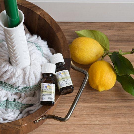 Aura Cacia Hardwood Floor Cleaner with Lemon Essential Oil