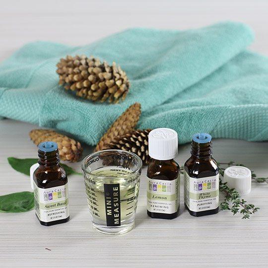 Aura Cacia Lemon, Basil and Thyme Essential Oil Diffusion