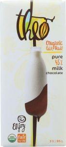 Theo Organic Milk Chocolate, 45 percent cacao