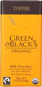 Green and Black's Organic Milk Chocolate with Toffee Pieces