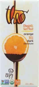 Theo Dark Chocolate with Orange Essential Oil
