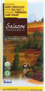 Salazon Chocolate Co. Organic Dark Chocolate with Sea Salt and Turbinado Cane Sugar