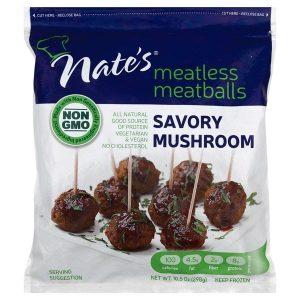 Nate's Meatless Meatballs Savory Mushroom