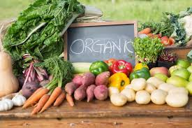organic veggies with an organic sign for wholesale food