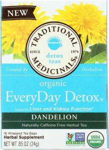 traditional medicinals everyday detox dandelion tea