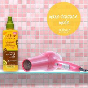 Alba Botanica Hair Conditioning mist with hair dryer