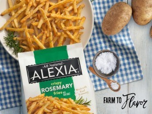 rosemary fries in bowl with bag