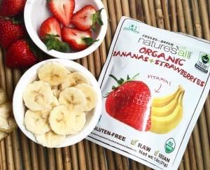 @natierrasuperfoods Instagram post freeze dried bananas and strawberries