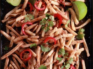 fries seasoned with peppers and herbs