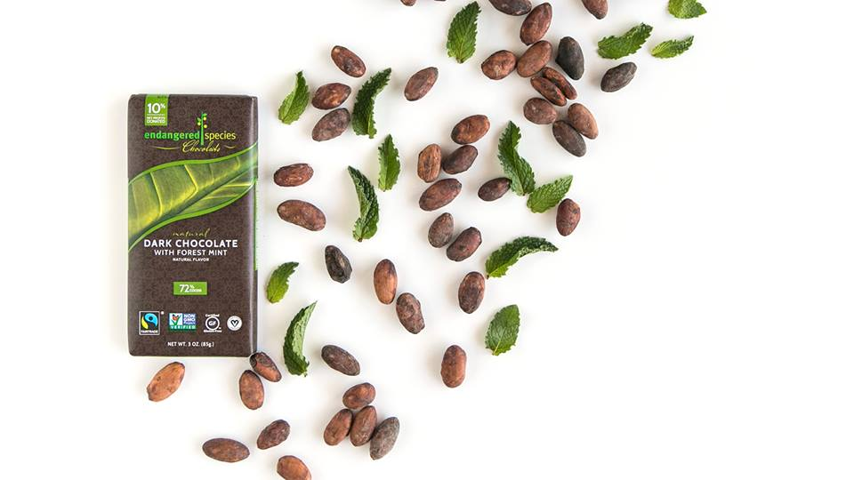 Forest Mint Bar (Endangered Species) with mint and chocolate