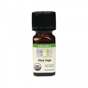 Aura Cacia Organic Clary Sage Essential Oil 0.25 fl. oz