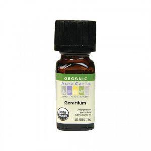 Aura Cacia Organic Geranium Essential Oil 0.25 fl. oz.