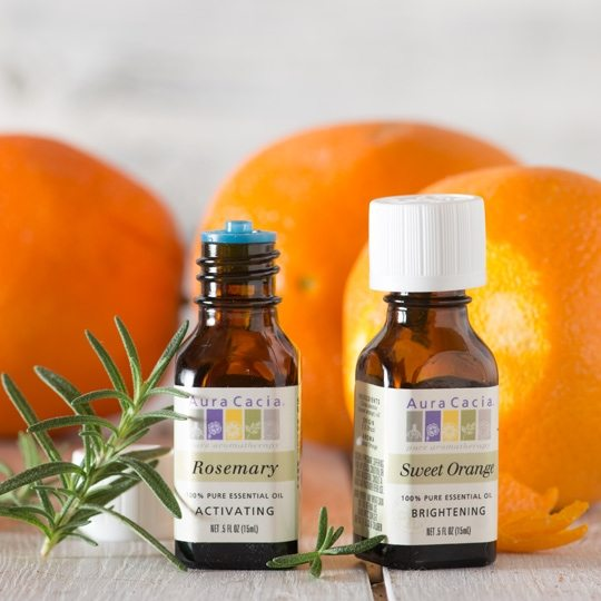 Diffusion with Rosemary and Sweet Orange Essential Oils