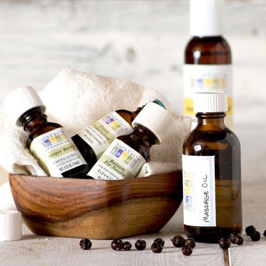 Massage Oil with Juniper and Cedarwood Essential Oils