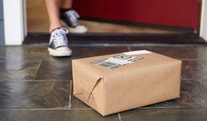 parcel on doorstep