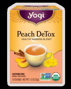 yogi peach detox tea