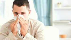 blowing nose during flu season