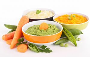 organic baby food using vegetables and herbs