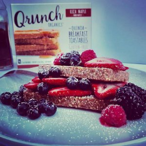 qrunch maple toastables with fruit