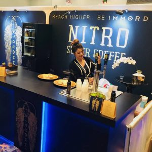Immordl Coffee`s Booth at Natural Products Expo West 2018, as photographed by themselves.