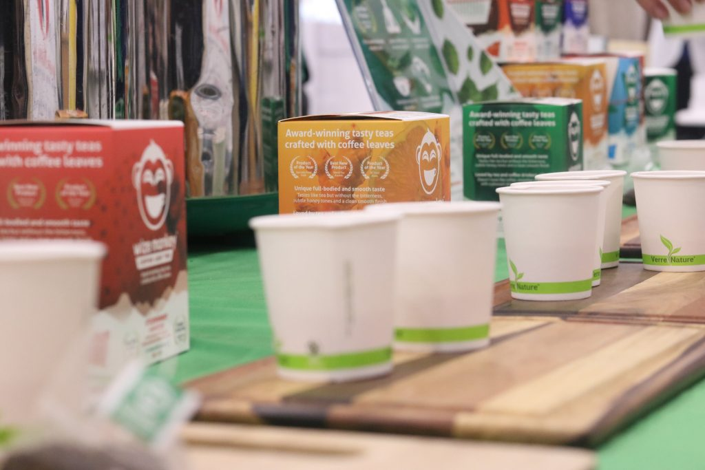 Wize Monkey Coffee Leaf Tea Products at Natural Products Expo West 2018