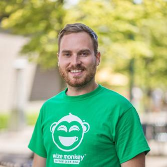 Max Rivest, co-founder and CEO of Wize Monkey Coffee Leaf Tea