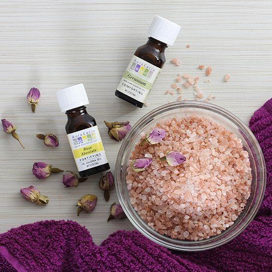 Aura Cacia Geranium Rose Bath Salts
