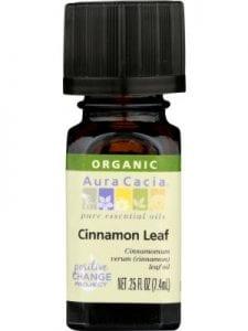 AURA CACIA Essential Oil Organic Cinnamon Leaf