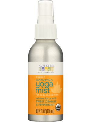 AURA CACIA Organic Motivating Yoga Mist Sweet Orange And Peppermint