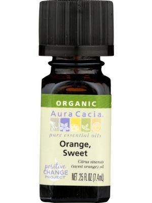 AURA CACIA Organic Orange Sweet Essential Oil